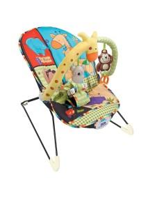 """Fitch Baby """"Animal Paradise"""" Детское кресло-качалка с игрушками и вибрацией, Черное"""