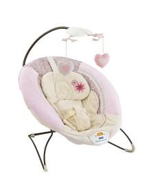 "Fitch Baby ""Delux Bouncer"" Детское кресло-качалка с игрушками и вибрацией , Розовое"