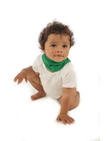 Элегантный шарфик-слюнявчик Снуди | Snoodie - зеленый