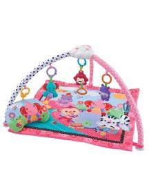 """Fitch Baby """"Delux Musical Mobile Gym"""" Развивающий музыкальный игровой коврик для новорожденного , Розовый"""