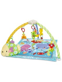 """Fitch Baby """"Delux Musical Mobile Gym"""" Развивающий музыкальный игровой коврик для новорожденного , Голубой"""