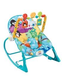 """Fitch Baby """"Infant-To-Toddler Rocker"""" Детское кресло-качалка с игрушками и вибрацией , Голубое"""