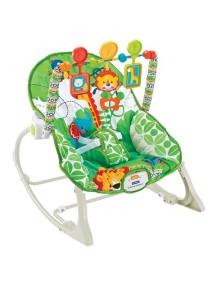 """Fitch Baby """"Infant-To-Toddler Rocker"""" Детское кресло-качалка с игрушками и вибрацией , Зелёное"""