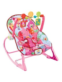 """Fitch Baby """"Infant-To-Toddler Rocker"""" Детское кресло-качалка с игрушками и вибрацией , Розовое"""