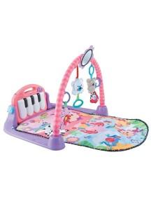 """Fitch Baby """"Piano Gym"""" Развивающий музыкальный игровой коврик для новорожденного , Розовый"""
