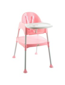 """FunKids """"Eat And Play"""" Детский универсальный стул для кормления и занятий , Розовый"""