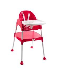 """FunKids """"Eat And Play"""" Детский универсальный стул для кормления и занятий , Красный"""