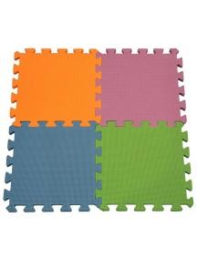 """Funkids """"Симпл-12"""" Игровой коврик-пазлы 12"""" без изображений толщина 15 мм (набор из 4 частей) ,Орандж/Сиреневый/Синий/Зелёный"""
