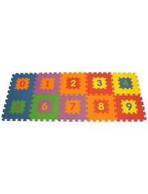 "Funkids ""Цифры-1"" Игровой коврик-пазлы 12"" с цифрами толщина 15 мм (набор из 10 плит)"