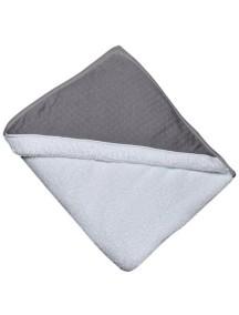 "Red Castle ""Apron Bath Towel"" Махровое полотенце-фартук с уголком от 0 до 36 месяцев / White-Dark Grey"