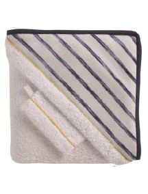 "Red Castle ""Hooded Towel"" Махровое полотенце с уголком и варежка для купания / Sailor"
