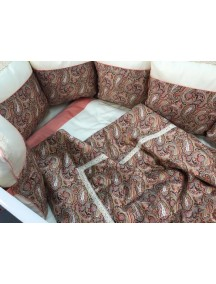 """Комплект MARELE для овальной кроватки """"Восточные огурцы"""" 18 предметов"""