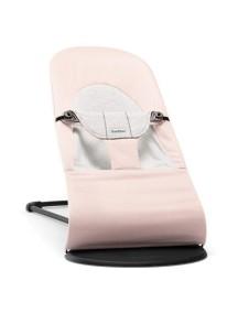 """BabyBjorn """"Balance Soft"""" Детский шезлонг (кресло - шезлонг Бебибьерн Бэленс Софт), Нежно розовый с серым"""