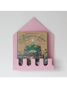 Полка-домик Munich розовый