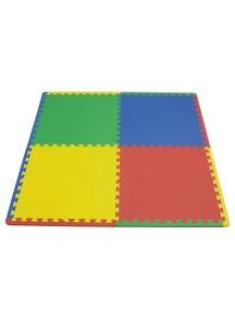 """Funkids  """"Симпл-24""""  Игровой коврик-пазлы 24"""" без изображений толщина 15 мм (набор из 4 частей) , Зелёный/Синий/Желтый/Красный"""