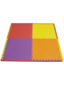"""Funkids """"Симпл-24"""" Игровой коврик-пазлы 24"""" без изображений толщина 15 мм (набор из 4 частей),Красный/Желтый/Сиреневый/Орандж"""