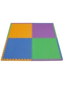 """Funkids  """"Симпл-24""""  Игровой коврик-пазлы 24"""" без изображений толщина 15 мм (набор из 4 частей) ,Орандж/Сиреневый/Синий/Зелёный"""