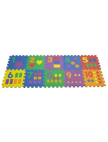 "Funkids ""Цифры-3"" Игровой коврик-пазлы 12"" с цифрами толщина 15 мм (набор из 10 плит)"