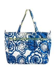 """Сумки для мамы и для коляски Жу-жу-би Суперби """"Голубый цветы"""" / JU-JU-BE Super Be  cobalt blossoms"""