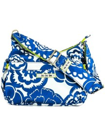 """Сумка для мамы и для коляски Жу-жу-би Хобоби """"Голубые цветы"""" / JU-JU-BE HoboBe cobalt blossoms"""