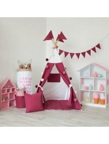Вигвам ручной работы для детей Насыщенный розовый, Deep Pink