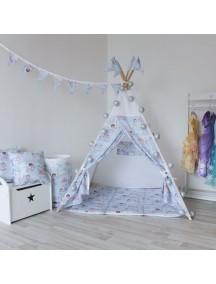 Вигвам ручной работы для детей Принцесса и Единорог, Princess&Unicorn