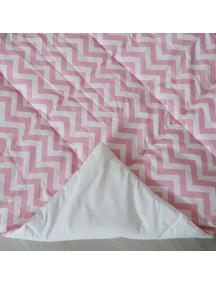 Стеганый плед для вигвама Розовые зигзаги, Pink Zigzag