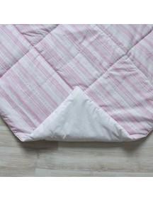 Стеганый плед для вигвама Розовые полоски, Pink Stripes