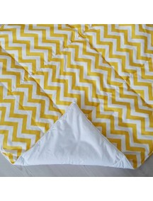Стеганый плед для вигвама Желтые зигзаги, Yellow Zigzag