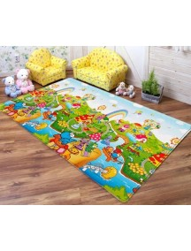 """Dwinguler """"Small-15"""" Коврик игровой детский развивающий (1000х1400х15) Dino Land / Остров динозавров"""