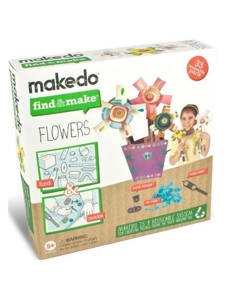 Конструктор MAKEDO FM01-001 Подумай и сделай цветок, 33 детали