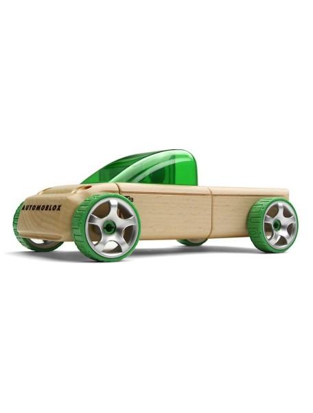 Конструктор-автомобиль T9 Зеленый Пикап. Традиционный модельный ряд. (Automoblox originals). AUTOMOBLOX/Автомоблокс