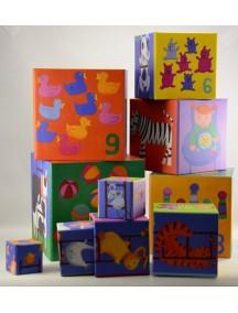 Кубики-пирамида Забавные кубики (10 кубиков) Djeco/Джеко