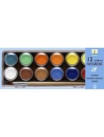 Краски гуашь 12 классических цветов Djeco/Джеко