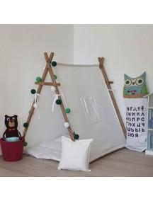 Игровая палатка ручной работы для детей, Simple White с окном