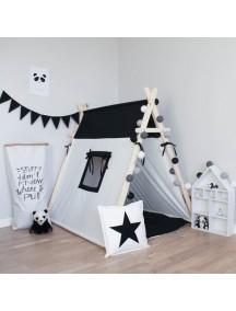 Игровая палатка ручной работы для детей, Black&White с окном