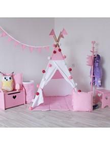 Вигвам ручной работы для детей Светло-розовый, Simple Pink