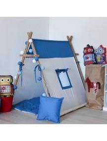 Игровая палатка ручной работы для детей, Navy с окном