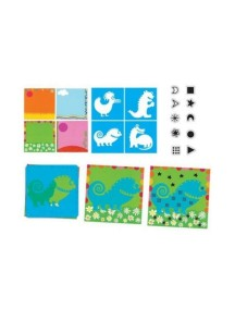 Творческий набор со штампами Диномонстры Djeco/Джеко