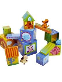 Игровой набор Кубанимо (14 фигур и 3 животных) Djeco/Джеко