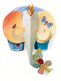 Объемная фигура из бумаги Слон Djeco/Джеко