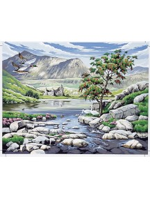 Набор для раскрашивания красками. Долина в Шотландии REEVES/Ривс