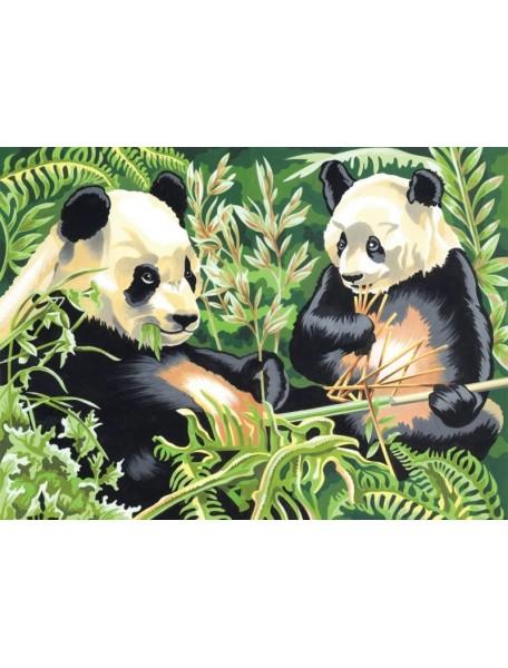 Набор для раскрашивания красками. Панда REEVES/Ривс