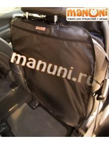 Накидка-защитка для спинки переднего сиденья автомобиля / Манюни (с карманом)