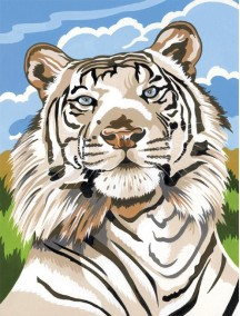 Набор для раскрашивания красками. Белый тигр REEVES/Ривс