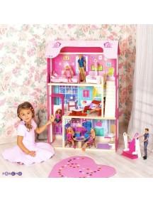 """Кукольный домик для Барби """"Муза"""" (16 предметов мебели, лестница, лифт, качели), PAREMO"""