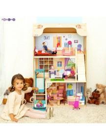 """Кукольный домик для Барби """"Грация"""" (16 предметов мебели, лестница, лифт, качели), PAREMO"""