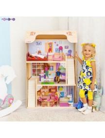 """Домик для Барби """"ШАРМ"""" (2 лестницы, мебель), PAREMO"""