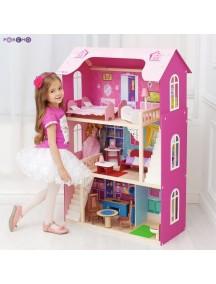 """Кукольный домик для Барби """"Вдохновение"""" (16 предметов мебели, 2 лестницы), PAREMO"""