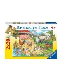 Пазл В деревне (2*20 деталей) Ravensburger/Равенсбургер
